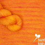 Mandarin Artisan Sock - Featured Color, May 2020 - on sale!