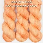 OOAK medium2 apricot/orange Artisan Sock
