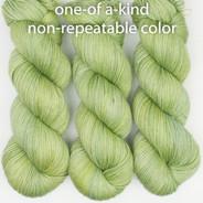 OOAK - light green-yellow Artisan Sock