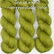 OOAK semi-solid green Artisan Sock