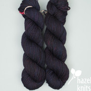 OOAK Black with colored undertones Tempo (discontinued base, MARKED KNOT)