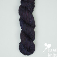 OOAK Black with colored undertones 2 Tempo (discontinued base, MARKED KNOT)