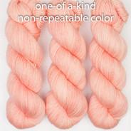 OOAK (one of a kind) peachy Artisan Sock