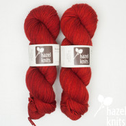 One of a kind, red-orange Lively DK  - mixed batch