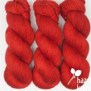 OOAK (one of a kind) spicy orange-red Artisan Sock