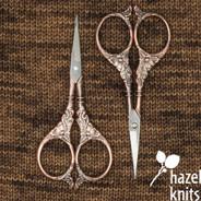 Scissors - Botanical, Antique Copper
