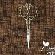 Scissors - Victorian Scrollwork, Antique Gold
