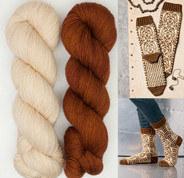 Wookiee Socks (pattern only available in Star Wars, Knitting the Galaxy book, sold separately)