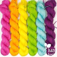 Color Play Set  Dance Party Rainbow (Artisan Sock, 6 x 133 yards each)