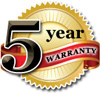 5 Year Warranty on Reverse Osmosis Systems