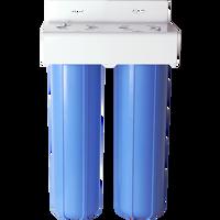 "Dual 2.5"" x 20"" DI filter system"