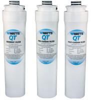 Watts QT Quick Twist RO Filters WQTSC-10, WQTCBC-10, WQTCGAC-10