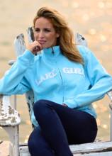 Lakegirl Full Zip Classic Track Jacket sweatshirt - Surf