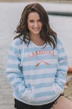 Lakegirl Lakeside Stripe Hoodie - White/Surf
