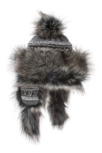 Bayka Fur Hat - Dark Grey