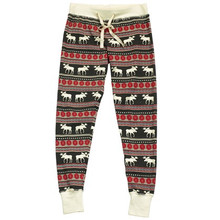 Lazy One Moose Fair Isle Women's PJ Legging