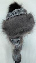 Trapper Fur Hat - Grey/Black