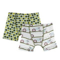 Kickee Pants Boxer Briefs (Set of 2), Aloe Tomatoes & Natural Tractor and Grass - Size 2T-3T