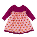 KicKee Pants Long Sleeve Swing Dress, Lotus Origami Crane - Size 4T