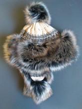 Starling Fur Hat - Cream/Brown/Black (SH12007j)