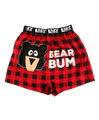 Bear Bum Plaid Boxer