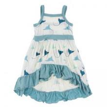 Kickee Pants Hi Lo Maxi Dress, Natural Manta Ray - Size 2T