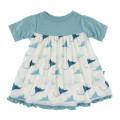 KicKee Pants Short Sleeve Swing Dress (Natural Manta Ray - 3T)