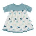 KicKee Pants Short Sleeve Swing Dress (Natural Manta Ray - 3T)