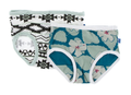 Kickee Pants Girl Underwear (Set of 2), Natural Mayan Pattern & Oasis Hibiscus - Size 2T/3T