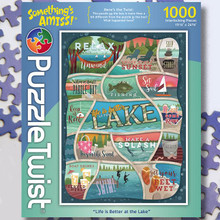 Puzzle Twist Life is Better at the Lake Puzzle