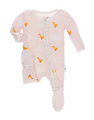 Kickee Pants Muffin Ruffle Footie w/zipper, Macaroon Puddle Duck