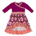 Kickee Pants Long Sleeve HiLo Maxi Dress, Falcon Agate Slices - Size 2T