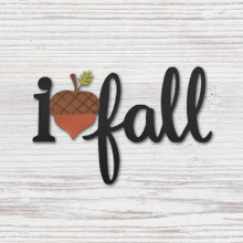 Roeda I (Heart) Fall w/ Acorn Magnet