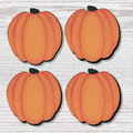 Pumpkin Magnets, Set of 4