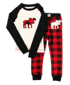 Moose Plaid Kids Longsleeve PJ Set
