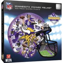 Minnesota Vikings 500 Piece Helmet Shaped Jigsaw Puzzle