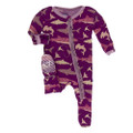 Kickee Pants Muffin Ruffle Footie w/zipper, Melody Sharks