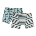 Kickee Pants Boxer Briefs (Set of 2), Aloe Aliens with Flying Saucers & Neptune Stripe