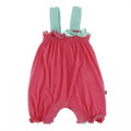 KicKee Pants Gathered Romper with Contrast Bow, Red Ginger with Glass