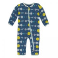 Kickee Pants Coverall w/Zipper, Twilight Planets