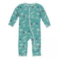 Kickee Pants Coverall w/Zipper, Neptune Chemistry Lab
