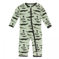 Kickee Pants Coverall w/Zipper, Aloe Reptiles