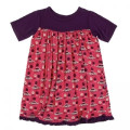 KicKee Pants Short Sleeve Swing Dress, Red Ginger Aliens with Flying Saucers