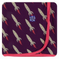 Kickee Pants Swaddling Blanket, Wine Grapes Rockets