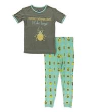 Kickee Pants Short Sleeve Pajama Set, Glass Beetles