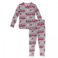 Kickee Pants Long Sleeve Pajama Set, Feather Firefighter