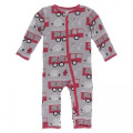 Kickee Pants Coverall w/Zipper, Feather Firefighter