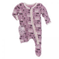 Kickee Pants Muffin Ruffle Footie w/zipper, Pegasus Construction