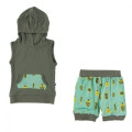Kickee Pants Short Sleeve Hoodie Tank Outfit, Glass Beetles
