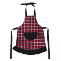 Kickee Pants Ruffle Apron, Crimson 2020 Holiday Plaid
